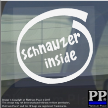 1 x Schnauzer Inside-Window,Car,Van,Sticker,Sign,Adhesive,Dog,Pet,On,Board